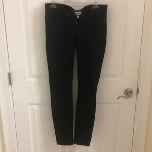 Paige ultra skinny black ripped jeans